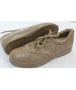 SAS SIZE 10 N TAN FREETIME COMFORT OXFORD FREE TIME LEATHER SHOES - $23.76