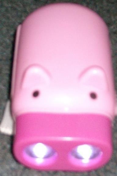 New Pink 2 LED Pig Wind-Up Dynamo Flashlight  Torch Lamp image 6