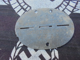 WWII GERMAN SS DOG TAG - $300.00