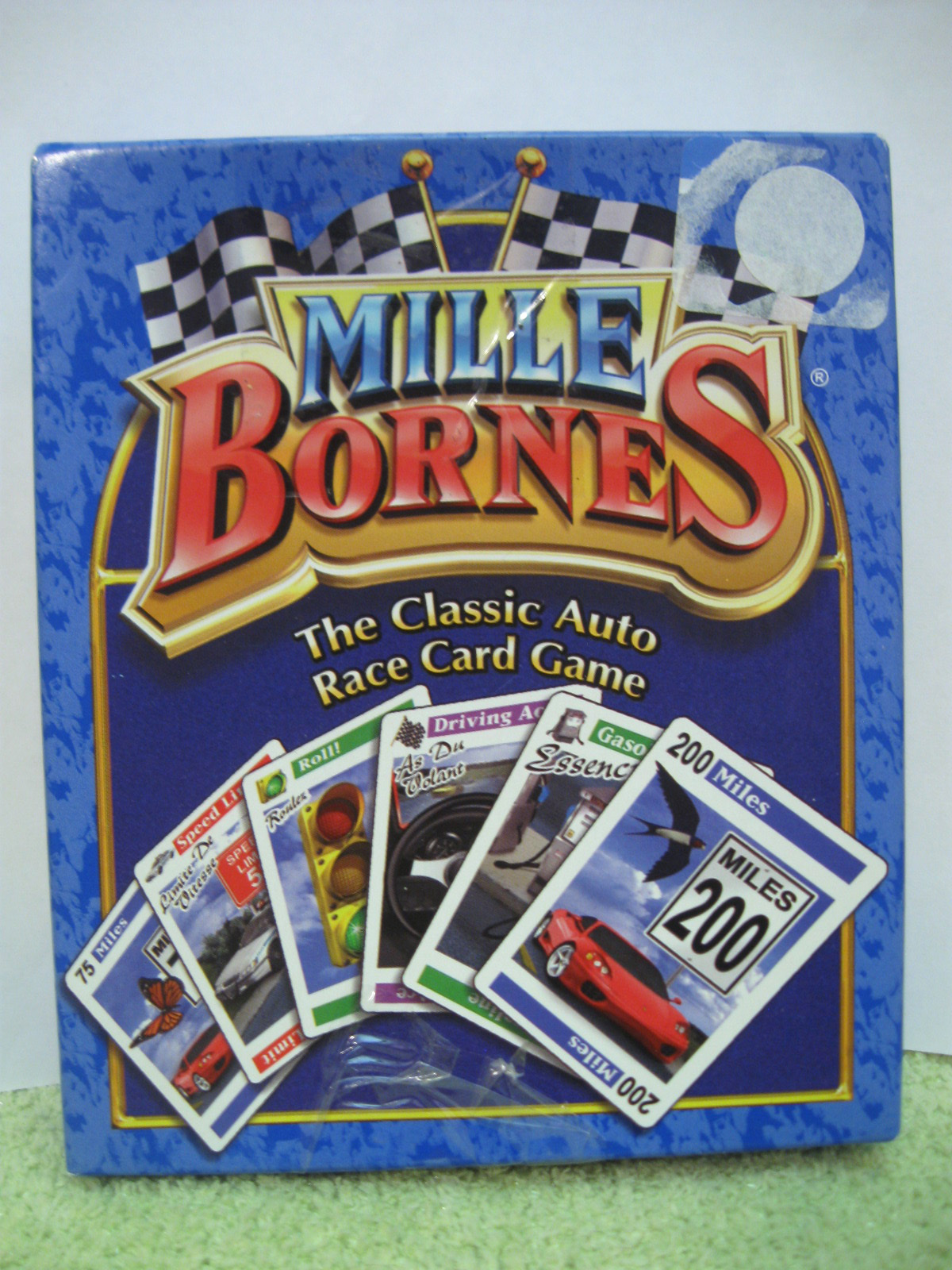 mille bornes french car race 2003 open with sealed cards game parker bros auto other card. Black Bedroom Furniture Sets. Home Design Ideas