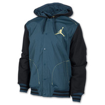 Nike Jordan 519621 Men's Black Navy Hood Hybrid Varsity Jacket Coat - $95.99