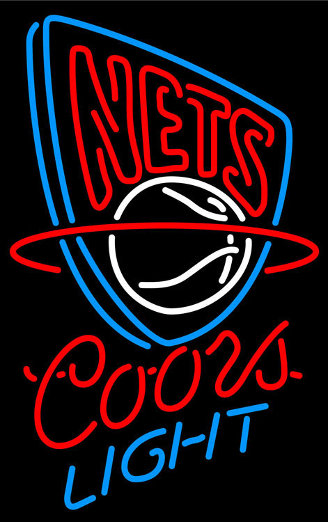Primary image for Coors Light NBA New Jersey Nets Neon Sign