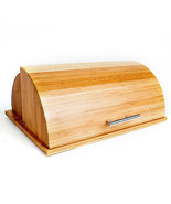 Quality Roll Top Bamboo Breadbox w/ Built in ... - £27.31 GBP