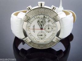 Aqua Master Large Round 20 Diamonds Watch White Face - $163.35
