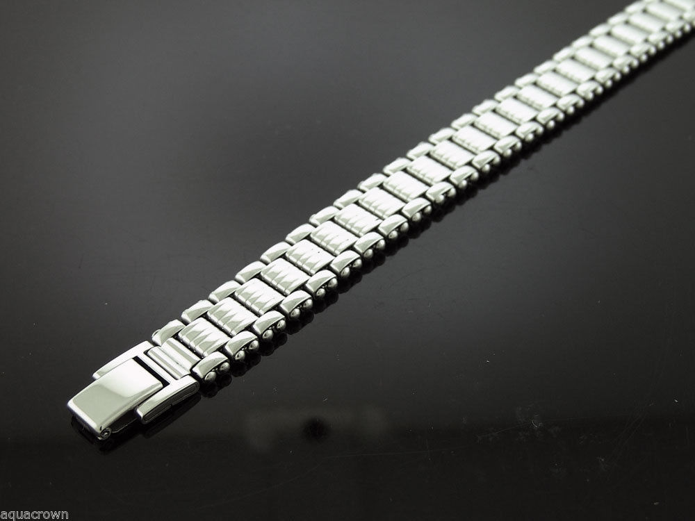 Primary image for Stainless Steel Bracelet 8 1/2 Inch Long 14mm wide