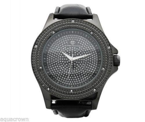 Primary image for Super Techno 0.10CT diamonds Watch M-6232 Black case