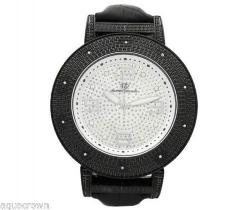 Primary image for Super Techno quartez 0.10CT diamonds Watch M-9027 black case