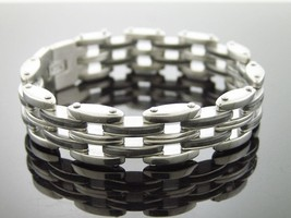 Stainless Steel with Rubber Bracelet 8 Inch Long - $49.49