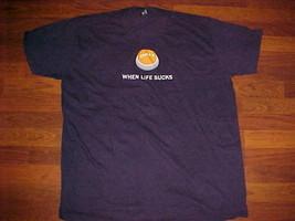 American Apparel Control Plus Z When Life Sucks 100% Men Black T Shirts 3XL - $19.79