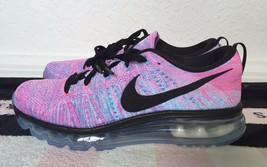 Nike Flyknit Air Max Chlorine Blue Pink Blast Black Women's Sneakers - 1... - $239.99