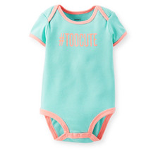 "Carter's ""Too Cute"" Baby Girl's Bodysuit, 111A498M - $9.75"