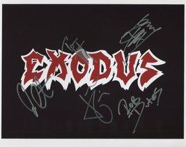 Exodus (Metal Band) FULLY SIGNED Photo + COA Lifetime Guarantee - $81.99
