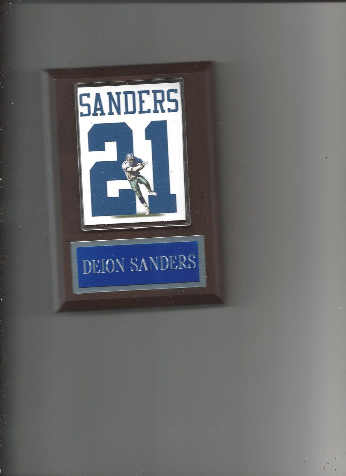 Primary image for DEION SANDERS JERSEY PLAQUE DALLAS COWBOYS FOOTBALL NFL