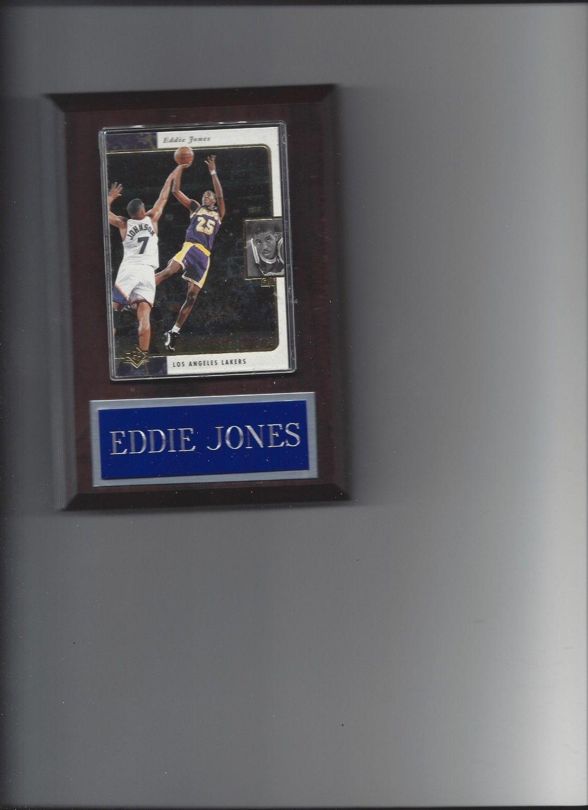 Primary image for EDDIE JONES PLAQUE LOS ANGELES LAKERS LA BASKETBALL NBA