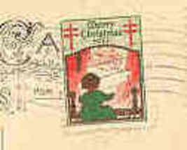 Christmas Seal Tied Vintage 1923 - $5.00