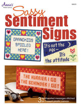 Sassy Sentiment Signs Plastic Canvas Patterns Beginner Easy Designs 7 & ... - $6.90