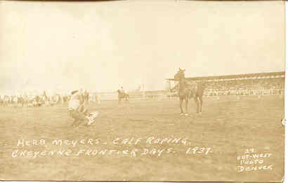 Primary image for  Cheyenne, Frontier Days, Herb Meyers, 1937 post card