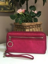 Coach Wallet Daisy Signature Large Zip Around Clutch F43760 Pink W42 - $49.49