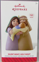 Silent Night Holy Night Mary Joseph Jesus 2014 Hallmark Christmas Ornament Nib - $10.74