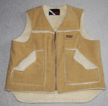 Acco Paymaster Seeds Truckers Farmers Vest Adult Large Tan Lined Zips Vi... - $74.20