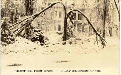 Primary image for Great Ice Storm Utica New York Vintage 1943 Post Card