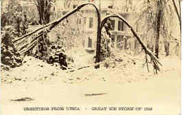 Great Ice Storm Utica New York Vintage 1943 Post Card - $6.00