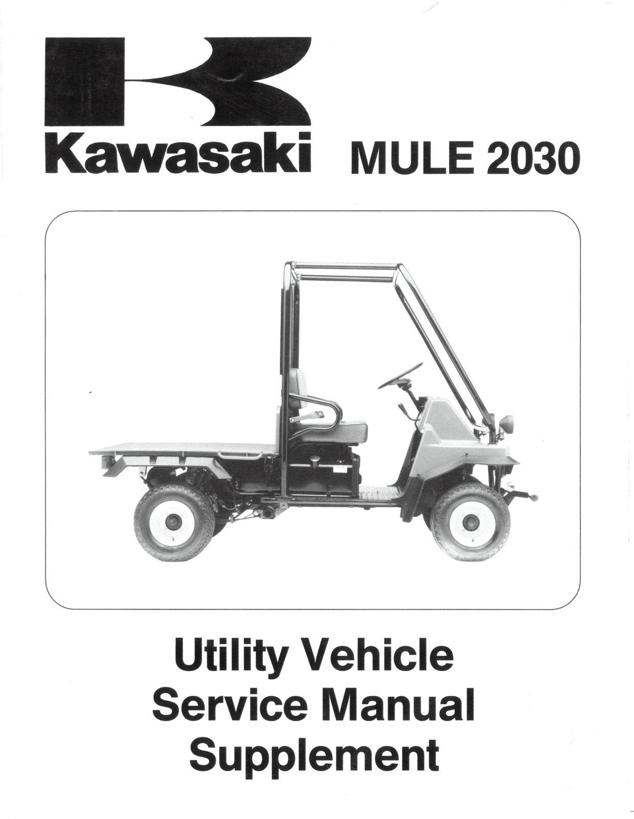 ... Kawasaki Mule 2010 2020 2030 KAF540 C C1 D D1 E E1 Shop Service Repair  Manual