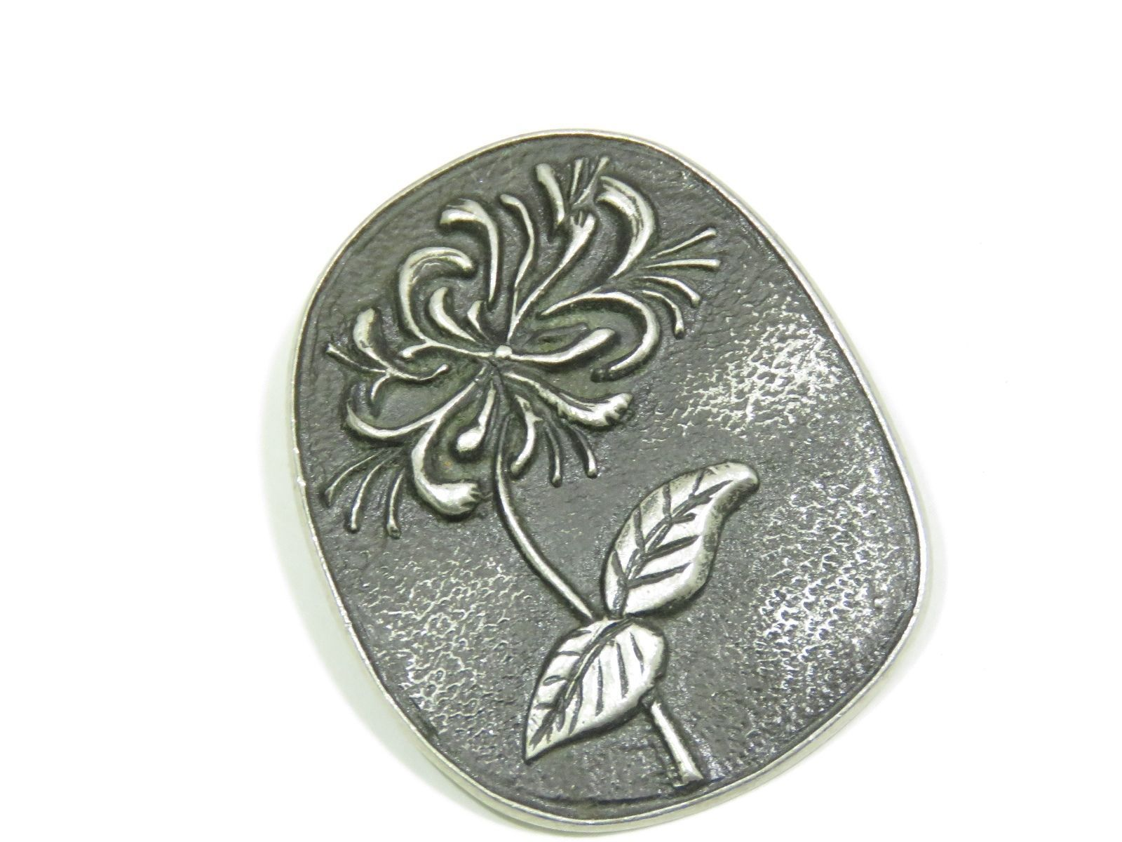 Primary image for Bohuslan Jewelry Pewter Pin Brooch Sweden Swedish Flower MCM