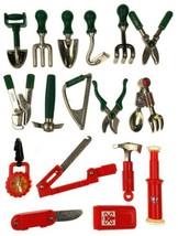 Assorted Metal & Plastic Cool Tools Hasbro Lot 17 Garden Green Red Shove... - $23.69