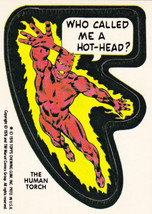1976 MARVEL COMIC BOOK SUPER HEROES STICKER CARD **HUMAN TORCH** HARD TO... - $3.99