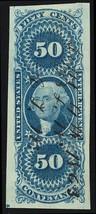 R54a, 50¢ Conveyance Revenue SUPERB Four Margin Jumbo GEM - Stuart Katz - $40.00