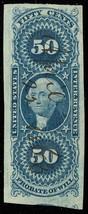 R62a, 50¢ Probate of Will Revenue SUPERB Four Margin Jumbo GEM - Stuart ... - $70.00