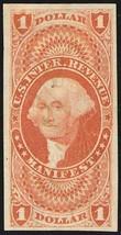 R72a, $1 Manifest Revenue Stamp Superb Four Margin GEM - Stuart Katz - $55.00