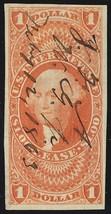 R70a, $1 Lease Revenue Stamp Superb Four Margin GEM - Stuart Katz - $65.00