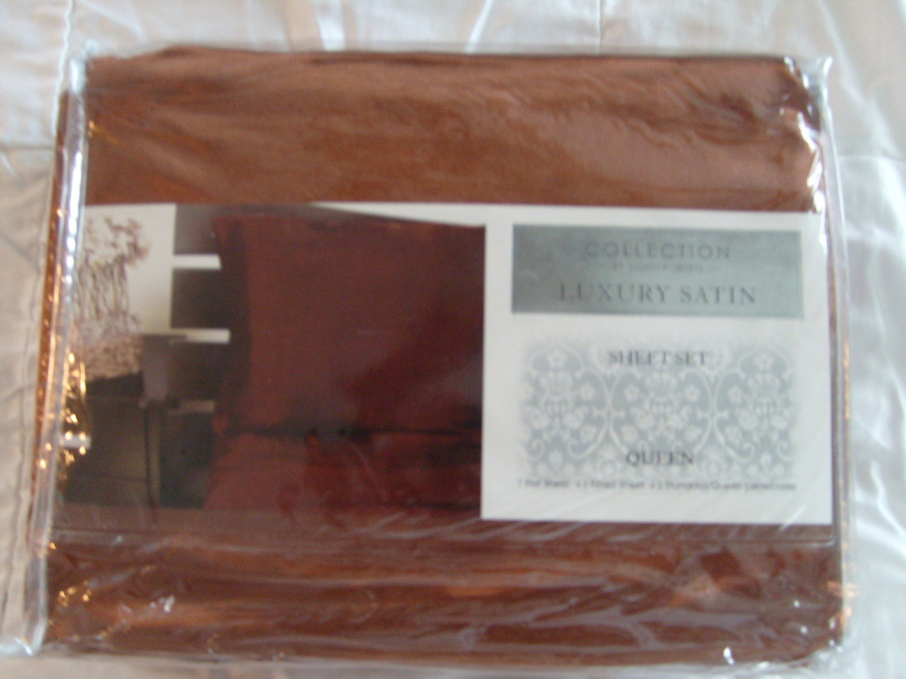 "Luxury Soft ""Silk"" / ""Silky"" 4 Pc. QUEEN Size Bed Satin Sheet Set - Solid Brown"