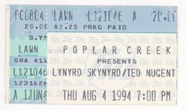 Lynyrd Skynyrd Ted Nugent 8/4/94 Chicago IL Poplar Creek Concert Ticket ... - $4.94