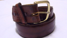 Brown Nocona Eel Leather Adjustable Man Leather Belt  Size 38 Free Ship - $9.95