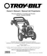 Troy-Bilt  Pressure Washer 2600 psi Model # 020208 - $10.99