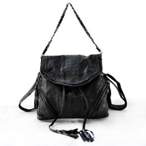 NEW Genuine Leather Multi Design Women's Backpack Handbag Shoulder Bags ... - $36.97