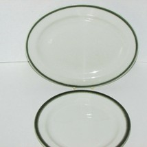 """Royal Doulton Hotel Ware Country Club Oval Platter 8"""" Plate Green Band Steelite - $21.99"""