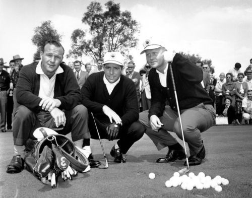 Primary image for Jack Nicklaus Gary Player Arnold Palmer K Vintage 8X10 BW Golf Memorabilia Photo
