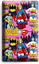 Supergirl Batgirl Wonder Woman Girl Comics Phone Jack Telephone Wall Plate Cover - $9.89