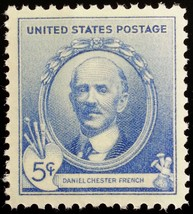 1940 5c Daniel Chester French Acclaimed American Sculptor Scott 887 Mint... - $1.09