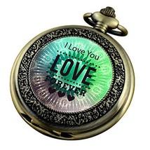 VIGOROSO Pocket Watch for Men Him Son Dad Husband Engraved I Love You Fo... - $13.79