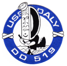 "USS DALY DD-519 4.75"" EMBROIDERED PATCH - $17.14"
