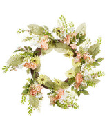 Darice Mixed Daisy Wreath: White/Peach/Yellow, 24 inches w - $69.99