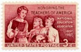 1957 3c School Teachers of America, 100th Anniversary Scott 1093 Mint F/... - $0.99