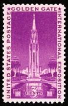 1939 3c Golden Gate Exposition Scott 852 Mint F/VF NH - $0.99