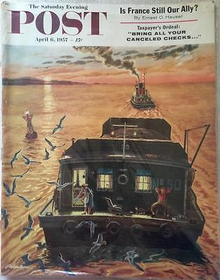 Primary image for The Saturday Evening Post April 6, 1957 - FULL MAGAZINE