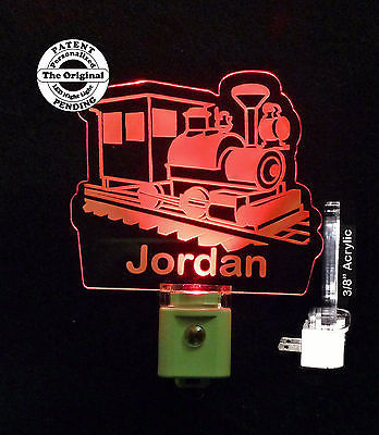 Primary image for Personalized Kids Train LED Night Light - Lamp, Caboose, Railroad